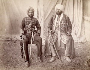 Bakshi Mulray (Governor of Gilgit) & Mehal Singh (Commanding Radur Regiment) in the Vale of Kashmir