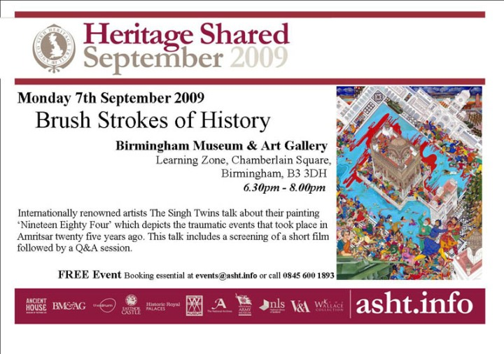 Brush Strokes of History - Monday 7th September, BMAG
