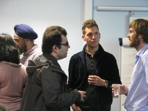 Daniel Haines with Ali Usman Qasmi and Chris Moffat