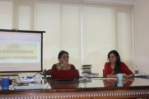 Minoti Chakravarty-Kaul with Pippa Virdee