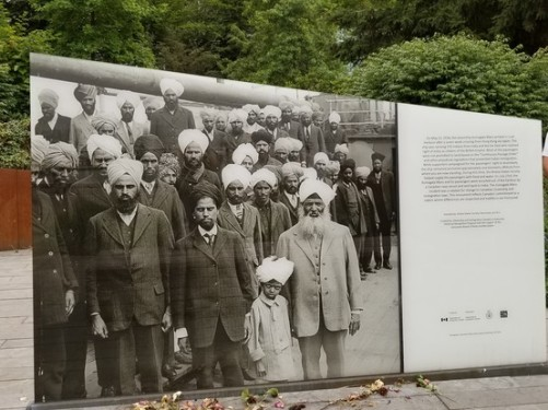 Days of struggle: The Komagata Maru Memorial at Coal Harbour, Downtown Vancouver, frames the painful past of Indian immigrants to Canada